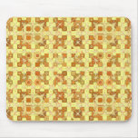 Tribal Batik - golden yellow, brown and tan Mouse Pad