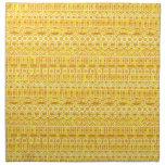 Tribal Batik - mustard gold and orange Printed Napkins