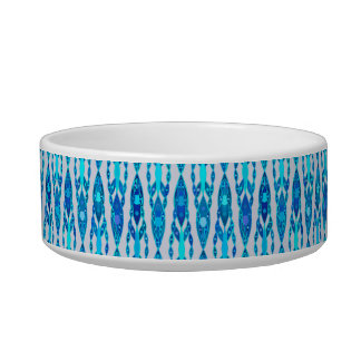 Tribal Batik - Sapphire Blue and Silver Grey Bowl