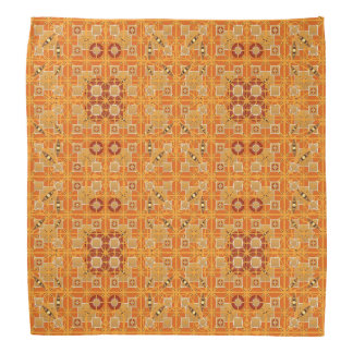 Tribal Batik - shades of amber and brown Bandana