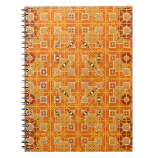 Tribal Batik - shades of amber and brown Note Books