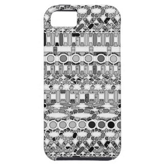 Tribal Batik - shades of grey / gray iPhone SE/5/5s Case
