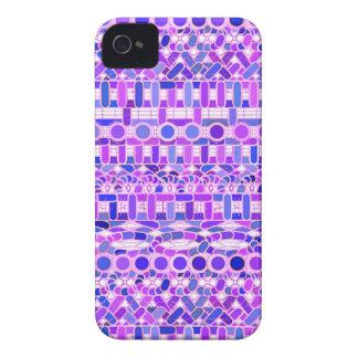 Tribal Batik - shades of violet purple Case-Mate iPhone 4 Cases