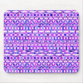 Tribal Batik - shades of violet purple Mouse Pad