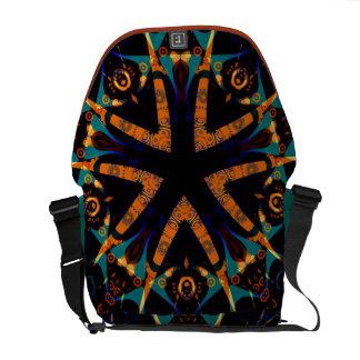 Tribal Batik Star Rickshaw Messenger Bag
