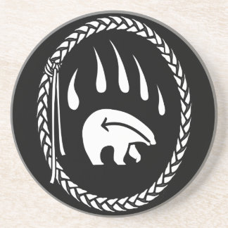 Tribal Bear Art Drink Coasters Native Bear Coaster