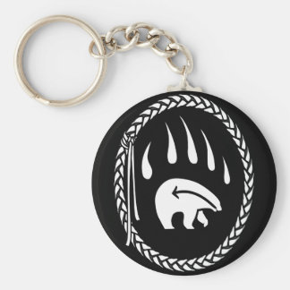 Tribal Bear Art Key Chain First Nations Bear Gifts