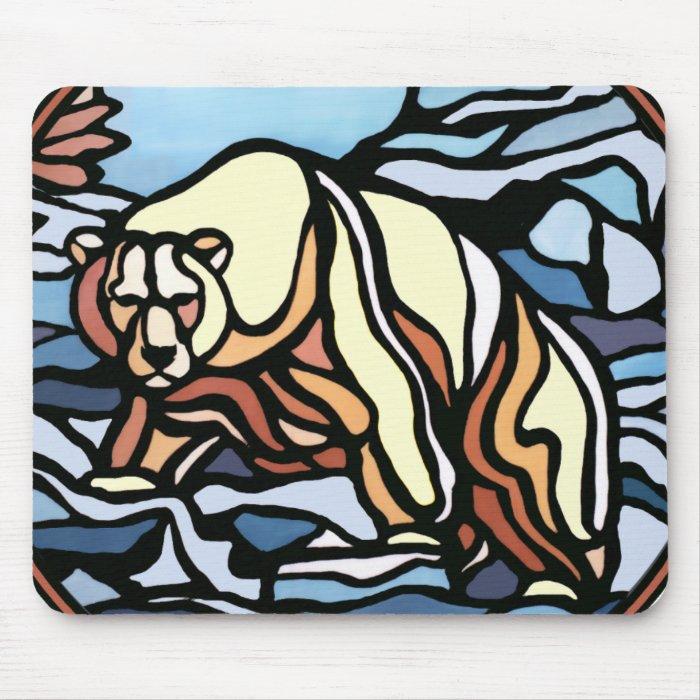 Tribal Bear Art Mousepad Stylish Wildlife Mousepad