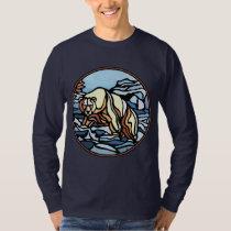 Tribal Bear Art Shirt Polar Bear Men's Shirt