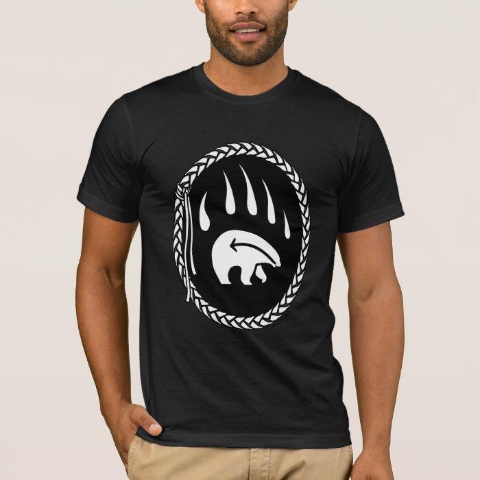 Tribal Bear Art T-shirt Bear Claw Men's Tees