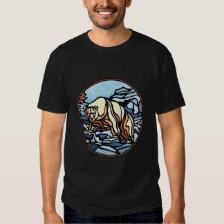 Tribal Bear Art T-shirt Polar Bear Mens Shirt