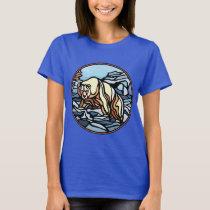 Tribal Bear Art Women's T-shirt  Wildlife Shirts