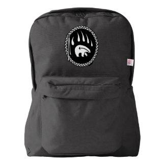Tribal Bear Backpack Native Bear Claw School Bags