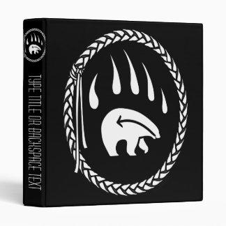 Tribal Bear Binder Native Art Binder Photo Album Vinyl Binders