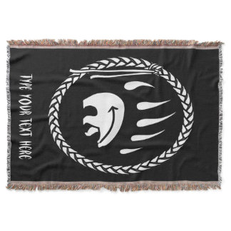 Tribal Bear Blanket Native Bear Claw Throw Blanket