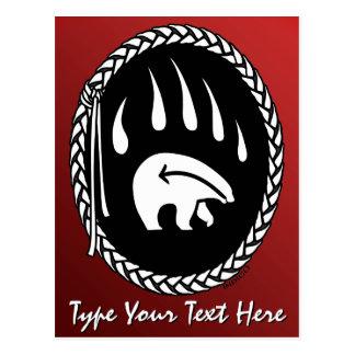Tribal Bear Claw Postcard Custom Native Postcards