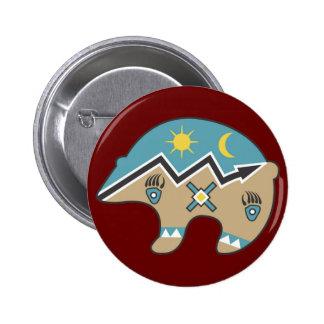 Tribal  Bear Design Button