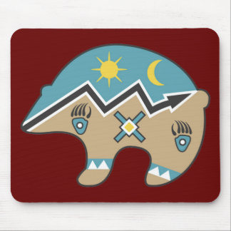Tribal Bear Design Mouse Pads