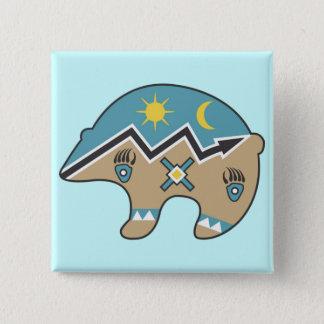 Tribal  Bear Design Pinback Button