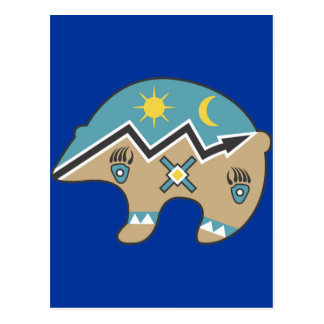 Tribal  Bear Design Postcard