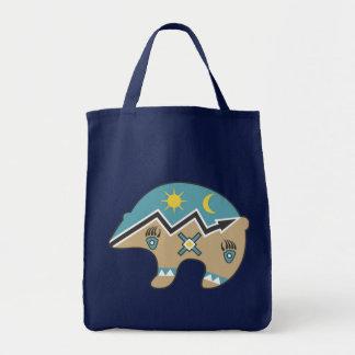 Tribal  Bear Design Tote Bag