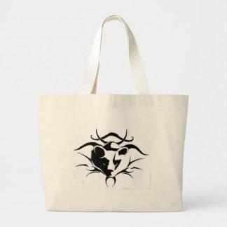 Tribal bear large tote bag