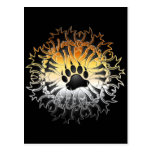 Tribal Bear Pride Paw Post Card