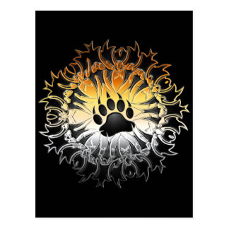 Tribal Bear Pride Paw Postcard