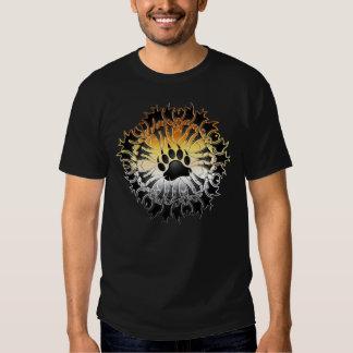 Tribal Bear Pride Paw T Shirt