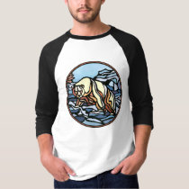 Tribal Bear Shirt Polar Bear Men's Jersey Shirt