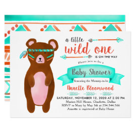 Tribal Bear | Wild One Baby Shower Card