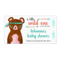 Tribal Bear | Wild One Baby Shower Thank You Label
