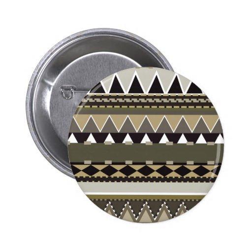 Tribal beige inspirado pin redondo de 2 pulgadas