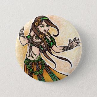 Tribal Belly Dancer Pinback Button
