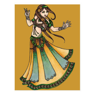 Tribal Belly Dancer Postcard
