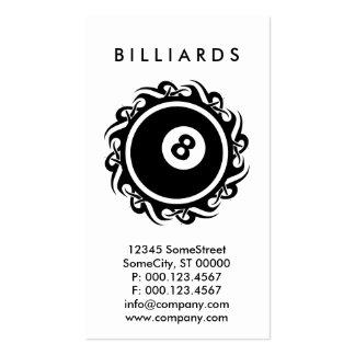 tribal BILLIARDS Business Card Templates