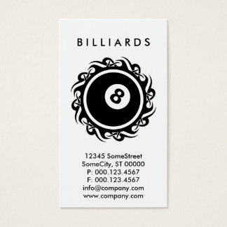 tribal BILLIARDS Business Card
