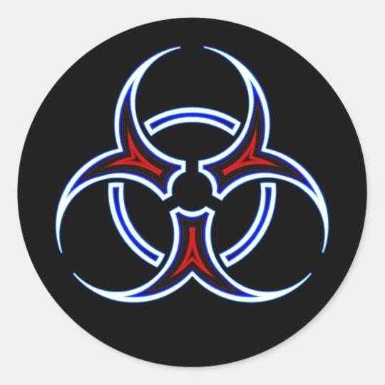 Tribal Biohazard Symbol Classic Round Sticker Zazzle