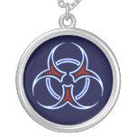 Tribal Biohazard Symbol Necklace Pendant