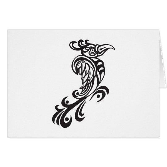 Tribal Bird Tattoo Design Card