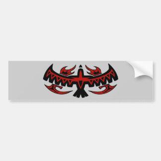 Tribal Bird Wings Bumpersticker Bumper Sticker