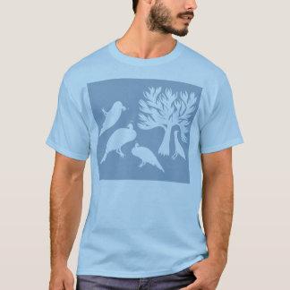 Tribal Birds Men's T-Shirt Light Blue