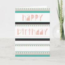 Tribal Birthday Card