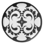 Tribal black and white plate