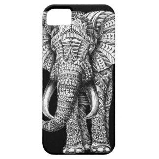 Tribal Black Elephant iPhone SE/5/5s Case