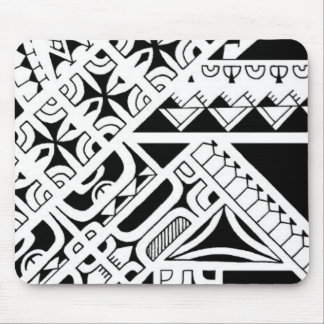 tribal black white design body art tatoos images mouse pad