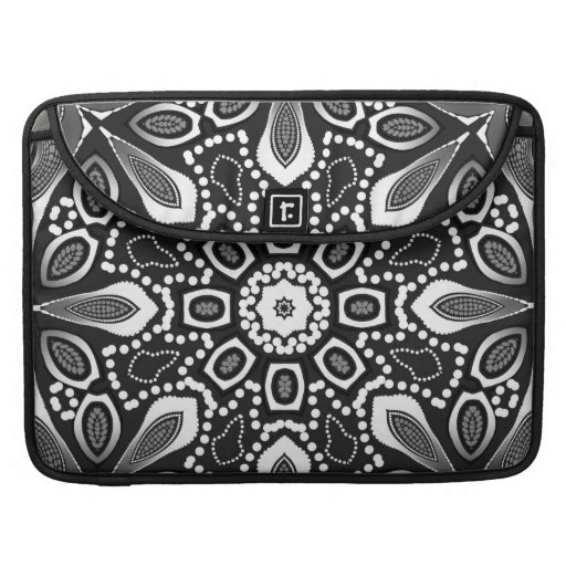 Tribal Black White Laptop Sleeve