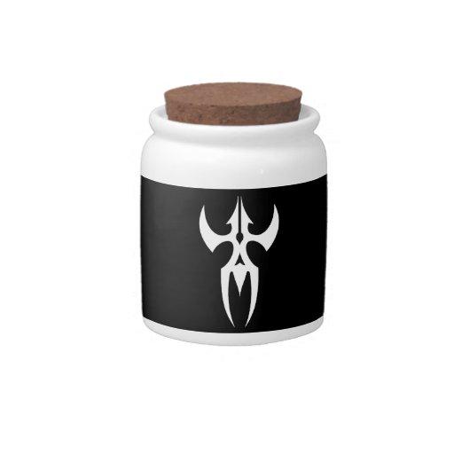 Tribal blanco negro clásico elegante simple fresco jarras para caramelos