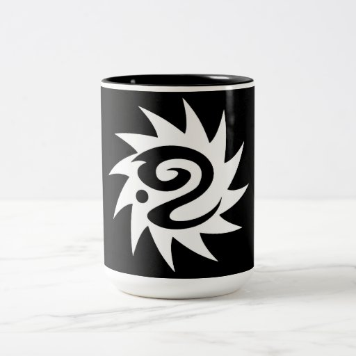 Tribal blanco negro clásico elegante simple fresco tazas