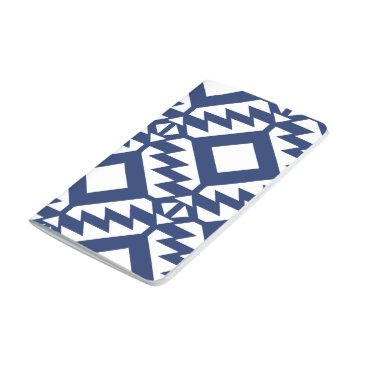 Aztec Themed Tribal blue and white geometric journal